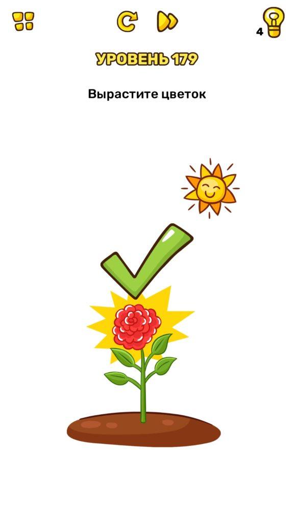 Вырастите цветок. 179 уровень Brain Blow